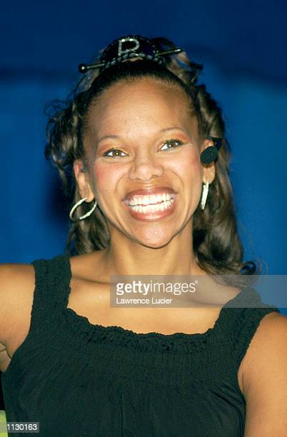 itness expert Donna Richardson appears at the Summer 2002 Tampax Total You Tour July 13 2002 at Madison Square Garden in New York New York The tour...