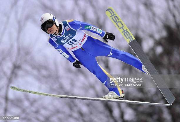 Ito Daiki of Japan competes in the individual competition during the FIS Ski Jumping World Cup on November 19 2017 in Wisla Poland 'n