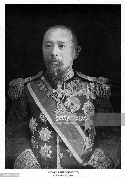 Ito Hirobumi, first Prime Minister of Japan, 1908. Japanese politician Marquis Ito Hirobumi was educated in Japan and Britain. He served as prime...