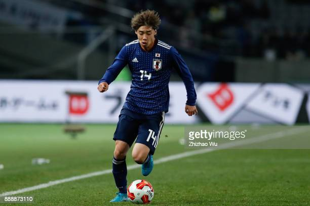 Ito Junya of Japan in action during the EAFF E1 Men's Football Championship between Japan and North Korea at Ajinomoto Stadium on December 9 2017 in...