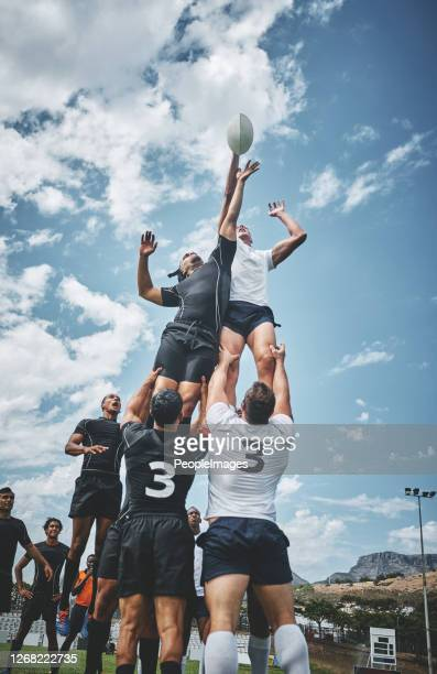 it's a battle to the top! - rugby stock pictures, royalty-free photos & images