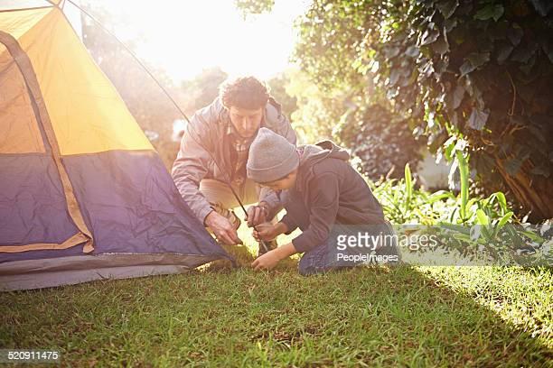 Es ist ein'boys nur Campingurlaub mit dad!