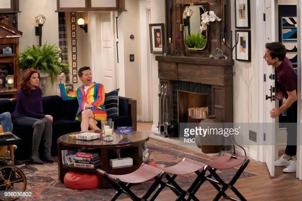 WILL GRACE 'It's A Family Affair' Episode 116 Pictured Debra Messing as Grace Adler Sean Hayes as Jack McFarland Brian Jordan Alvarez as Estefan