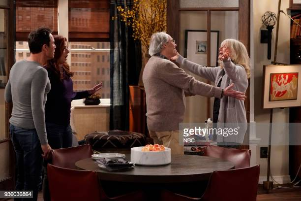 WILL GRACE 'It's A Family Affair' Episode 116 Pictured Eric McCormack as Will Truman Debra Messing as Grace Adler Robert Klien as Martin Adler Blythe...