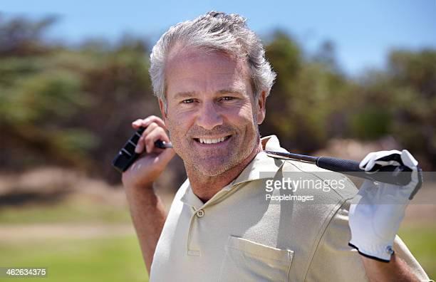 素敵な一日のゴルフ。