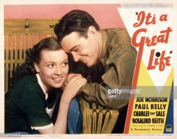 It's A Great Life lobbycard from left Rosalind Keith Joe Morrison 1935