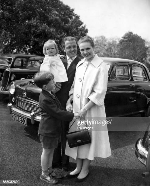 It's a happy Easter for little Michael and Jane mother is out of hospital after her appendicitis operation and now they're reunited 21/4/1957