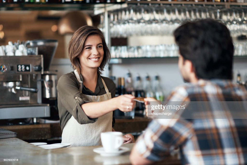 It's a pleasure to be of service : Stock Photo