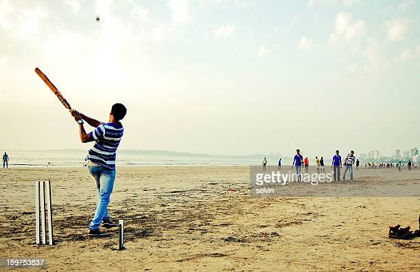 """it's a six!"" - beach cricket stock pictures, royalty-free photos & images"
