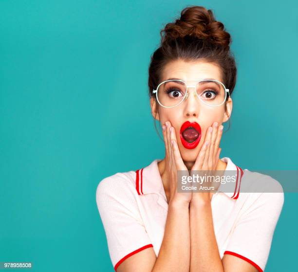 it's a total omg moment! - total look stock photos and pictures