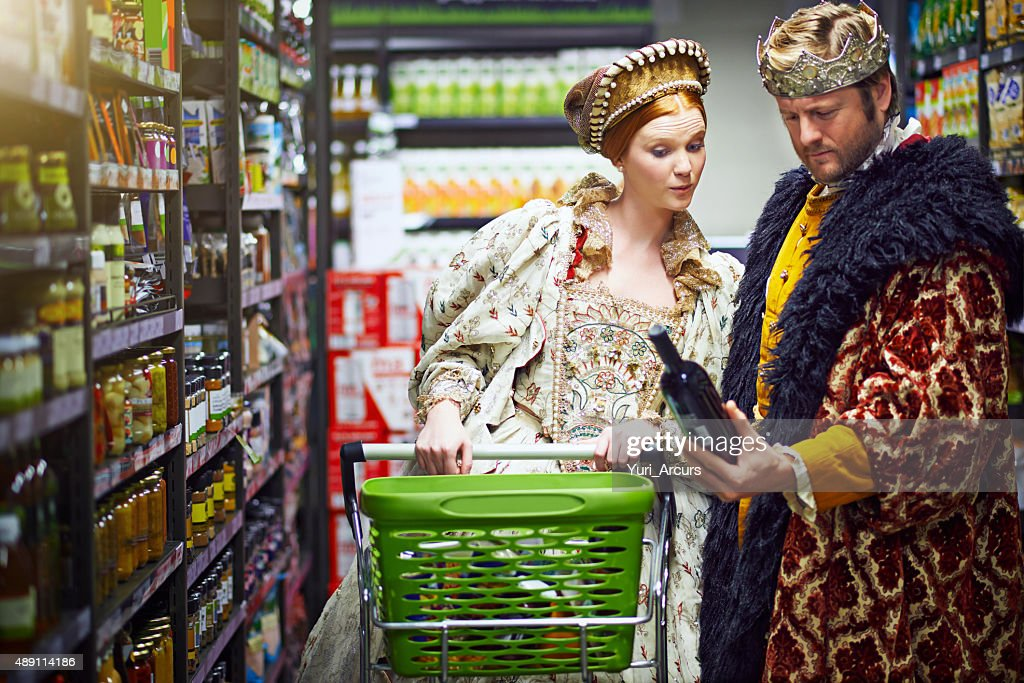 It's a vintage fit for a king and queen : Stock Photo