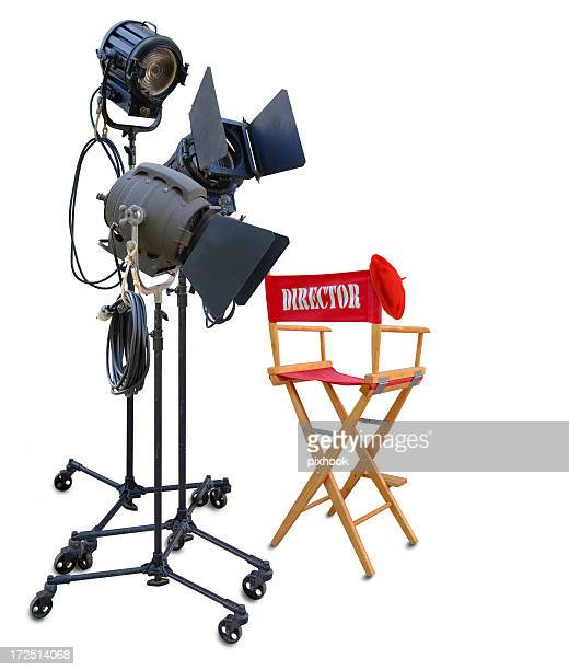 it's a wrap! - director's chair stock photos and pictures