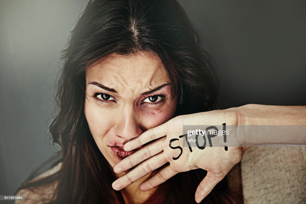 It's about time we put a stop to domestic abuse : Stock Photo