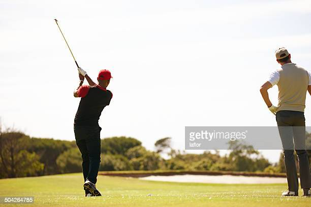 it's all in the swing - driving range stock pictures, royalty-free photos & images