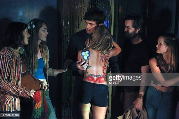 AQUARIUS It's Alright Ma Episode 110 Pictured Abby Miller as Mary Brunner Emma Dumont as Emma Karn Beau Mirchoff as Rick Donovan Gethin Anthony as...