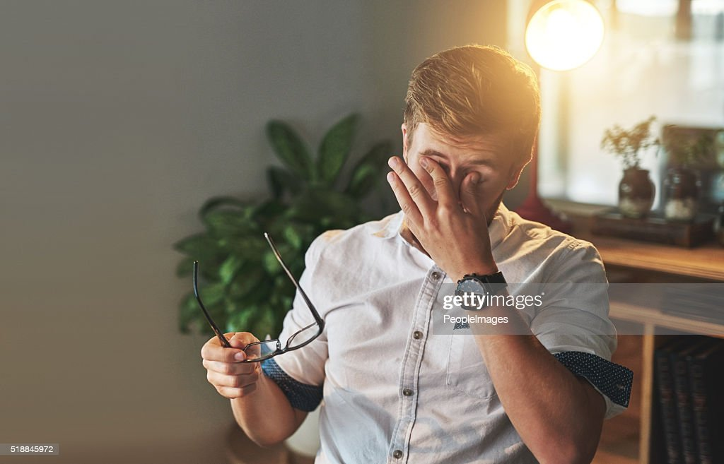 It's been a long day... : Stock Photo