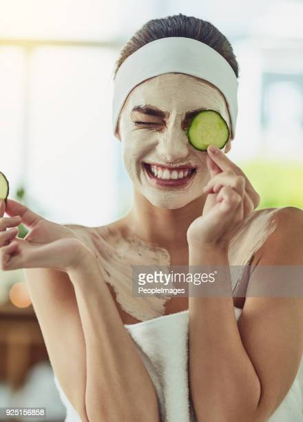 it's both cooling and purifying for my skin - cucumber stock pictures, royalty-free photos & images