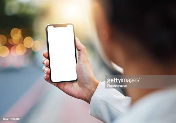 それはあなたに有利に働く技術を持ちやすい - 空白の画面 ストックフォトと画像