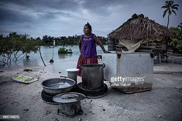 It's getting really bad says villager Beia Tiim The extreme high tide used to come every three or four years now it comes every three months Most...