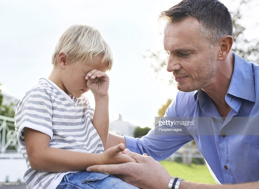 It's going to be okay my boy : Stock Photo