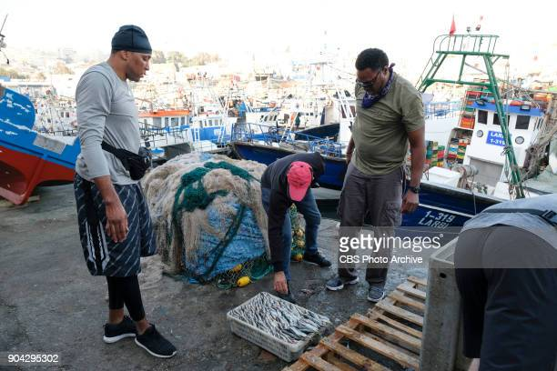 'It's Gonna Be A Fragrant Day' In this Active Route Marker Shawn Marion and Cedric Ceballos must find the marked bins at the Old Fish Port in Morocco...