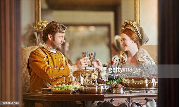 it's good to be royal! - 17th century style stock photos and pictures