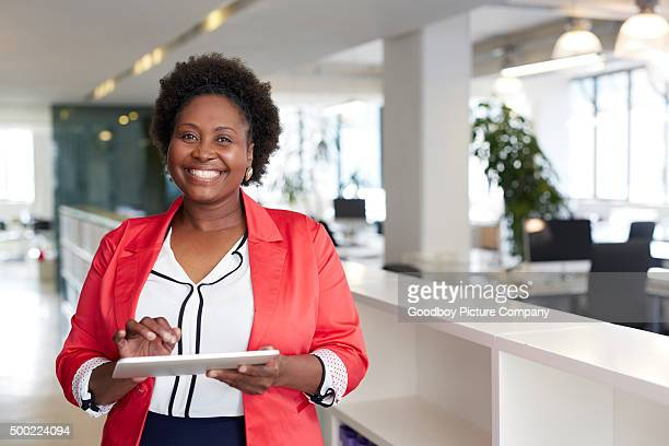 it's got all the functionality i need and more! - black women stock photos and pictures
