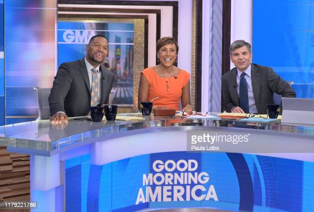 """It's Halloween on ABC's """"Good Morning America,"""" Thursday, October 31, airing on ABC. MICHAEL STRAHAN, ROBIN ROBERTS, GEORGE STEPHANOPOULOS"""