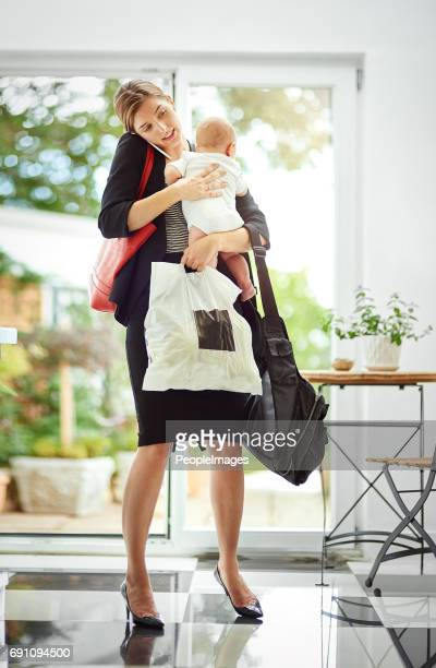 it's hard being a working mom! - super mom stock photos and pictures