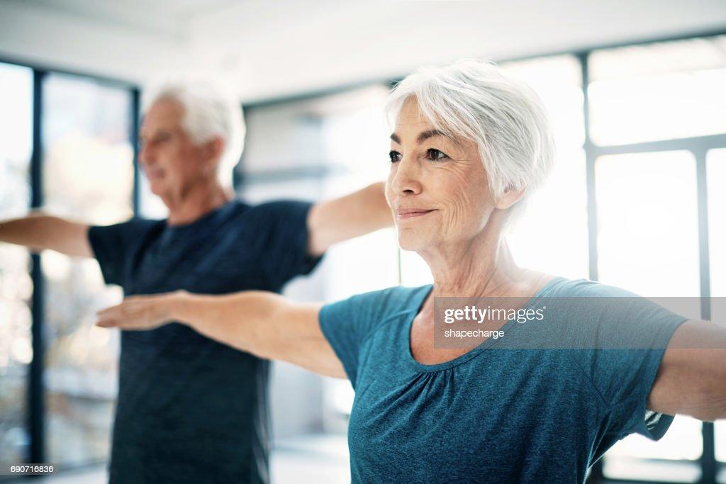 Es ist wichtig, als Sie im Alter aktiv zu bleiben : Stock-Foto