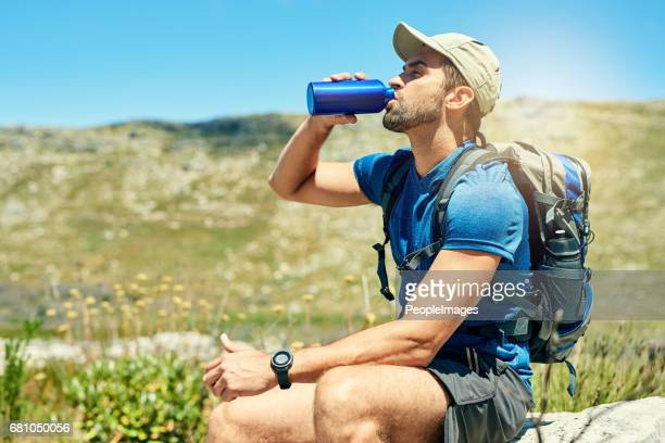 it's important to stay hydrated when hiking - cap stock pictures, royalty-free photos & images