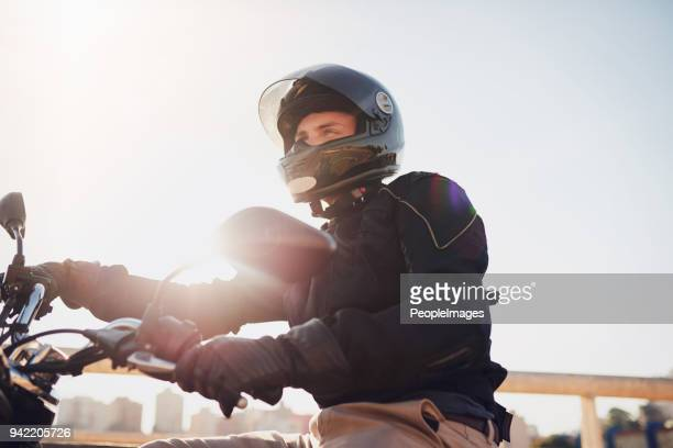 it's just you and the road - sports helmet stock pictures, royalty-free photos & images