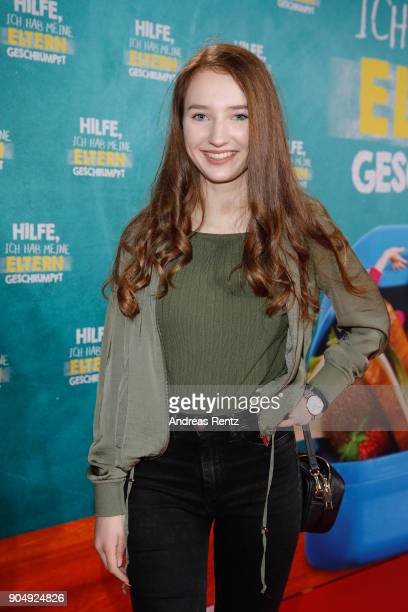 Its Lara attends the premiere of 'Hilfe ich hab meine Eltern geschrumpft' at Cinedom on January 14 2018 in Cologne Germany