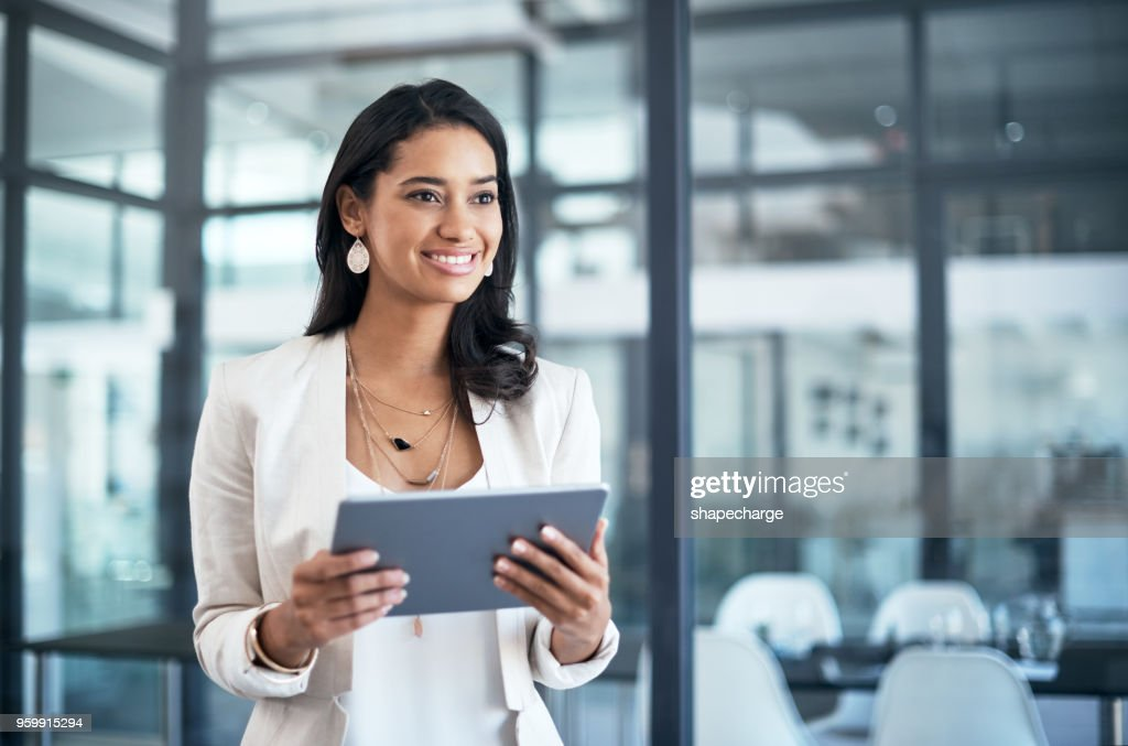 It's like a personal assistant in digital form : Stock Photo