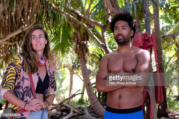 It's Like a Survivor Economy Kim Spradlin and Wendell Holland on the Second episode of SURVIVOR WINNERS AT WAR airing Wednesday Feb 19 on the CBS...