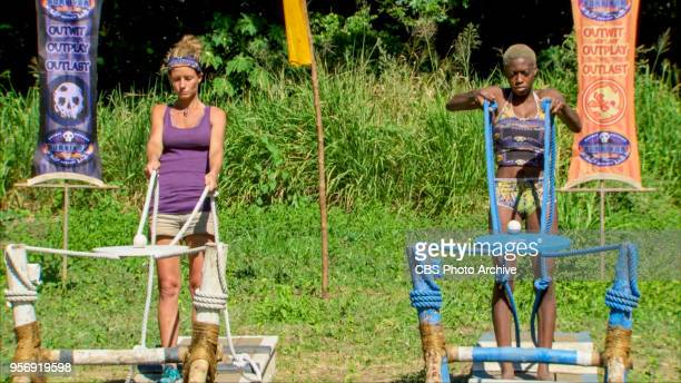 'It's Like the Perfect Crime' Angela Perkins and Desiree Afuye on the tenth episode of Survivor Ghost Island airing Wednesday April 25 on the CBS...