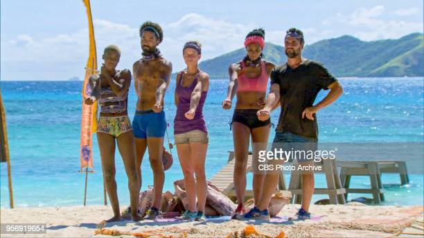 'It's Like the Perfect Crime' Desiree Afuye Wendell Holland Angela Perkins Laurel Johnson and Domenick Abbate on the tenth episode of Survivor Ghost...