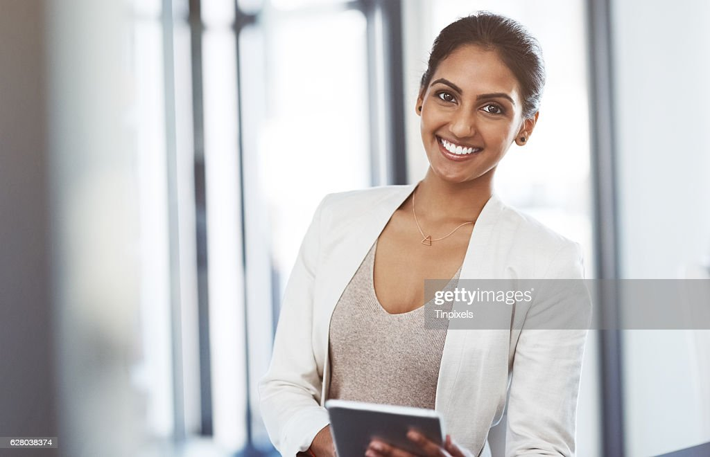 It's loaded with apps to suit my business interests : Stock Photo