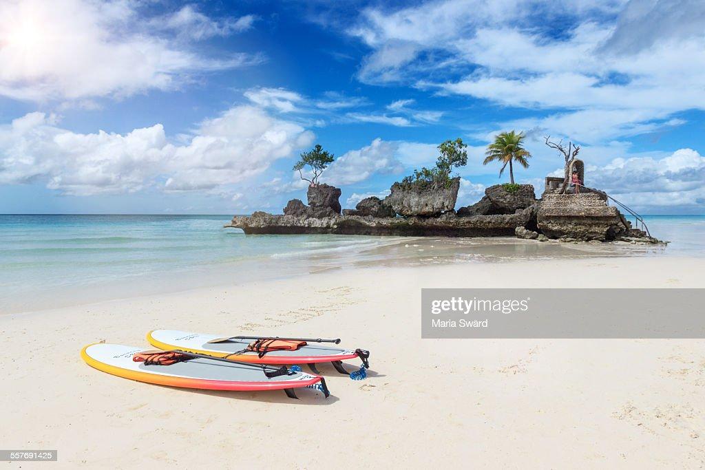 It's more fun in the Philippines - Boracay island : Stock Photo