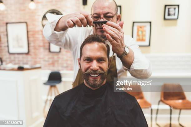 it's movember, men! ready for mustache challenge? - homens de idade mediana imagens e fotografias de stock