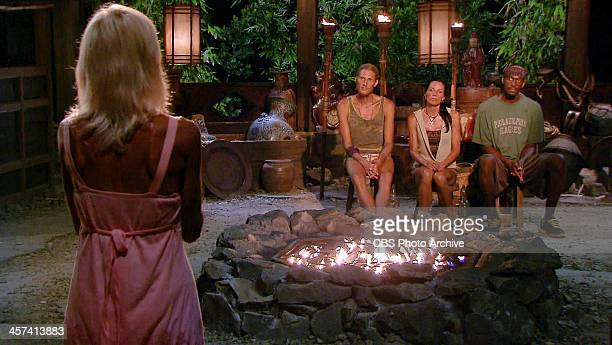 It's My Night Tina Wesson addresses Tyson Apolstol Monica Culpepper and Gervase Peterson at the finale Tribal Council on a special twohour season...