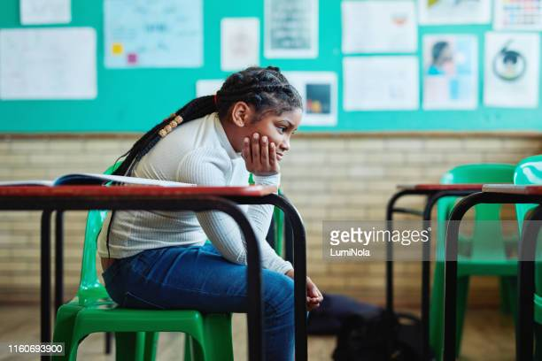 it's no fun being by yourself - school detention stock pictures, royalty-free photos & images