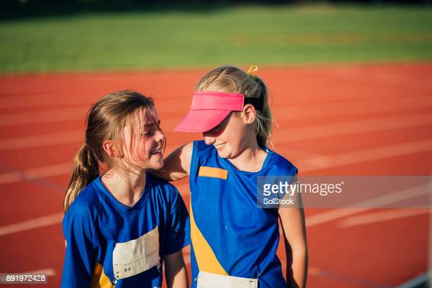 it's not always a competition! - sport venue stock pictures, royalty-free photos & images