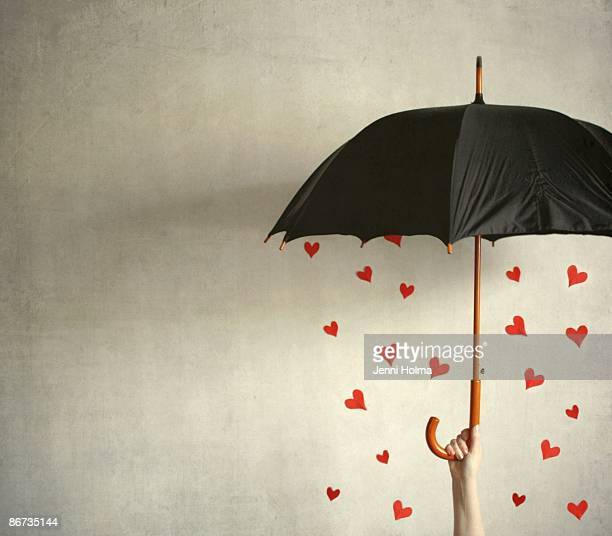 It's raining hearts