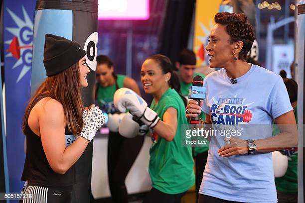 AMERICA Its Robin's ReBoot Camp on Good Morning America 1/13/16 airing on the Walt Disney Television via Getty Images Television Network LINSEY