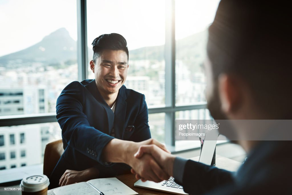 It's safe to say he made a great impression : Stock Photo