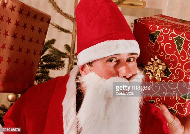 it's santa claus - santa face stock pictures, royalty-free photos & images