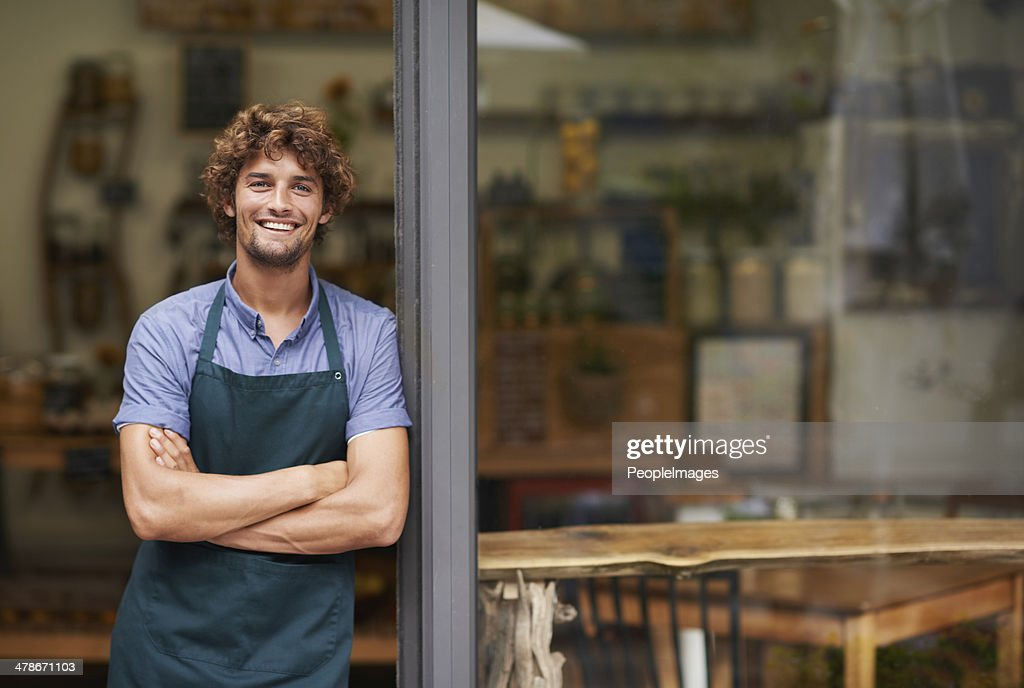 It's the best cafe in town : Stock Photo