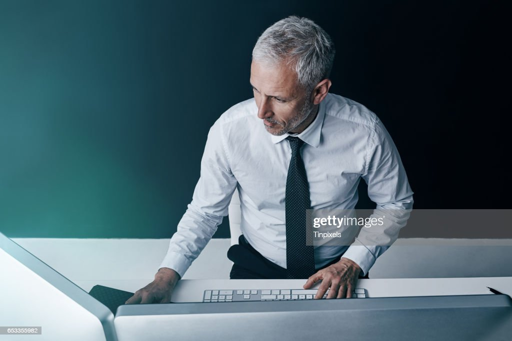 It's the combination of technology and business that provides results : Stock Photo