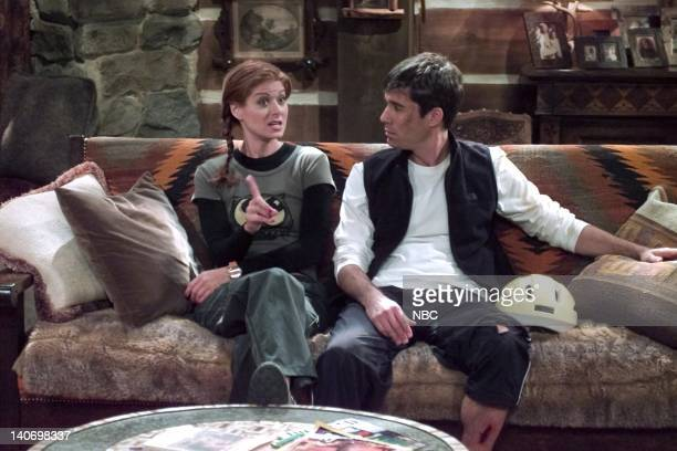 WILL GRACE 'It's the Gay Pumpkin Charlie Brown' Episode 5 Pictured Debra Messing as Grace Adler Eric McCormack as Will Truman Photo by NBCU Photo Bank